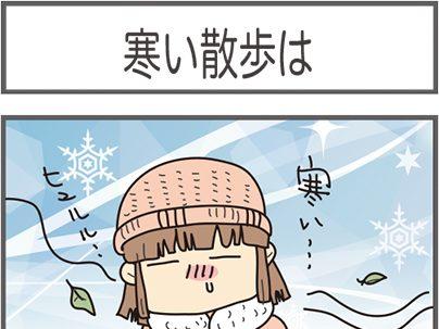 寒い散歩は